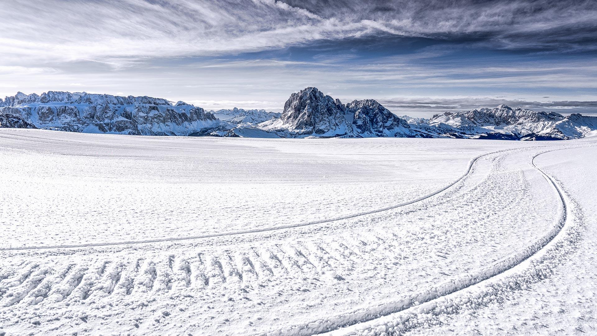 Winter Seceda Seilbahnen St Ulrich In Gröden